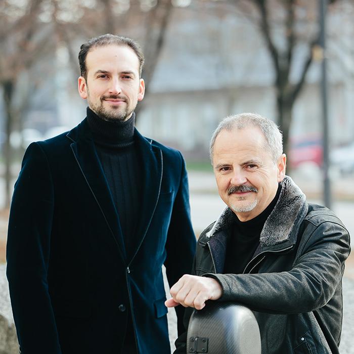 Koncert samospevov: Lucas Somoza Osterc in Žarko Ignjatović
